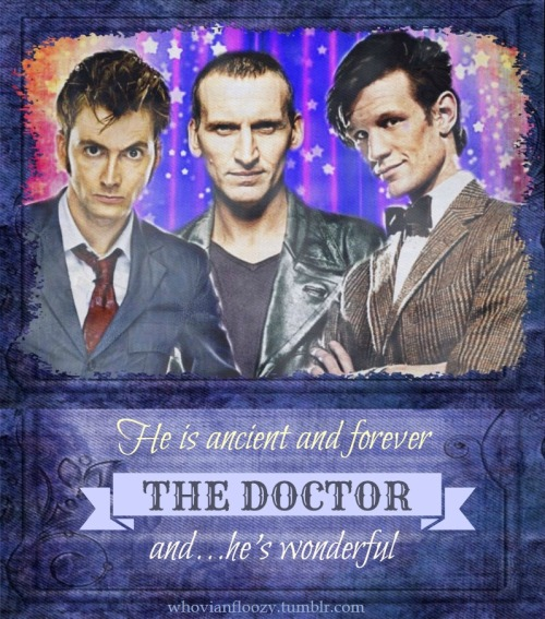 whovianfloozy:  My submission for The Doctor Who Tumblr Asked For My Autograph Poster Project! I watched and loved some classic who as a child but as an adult I have a particular love for the new version of the series. I'm a sucker for angst and an edge of darkness all wrapped up in a very pretty package (or three)!