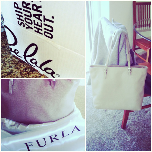 Got my first Furla, and loving the buttery griege-ness. Also loved the deal thanks to Rue La La—got it cheaper than any other trendy leather tote out right now.   www.RueLaLa.com/invite/NadiaThinks in case you have yet to check out their deals!
