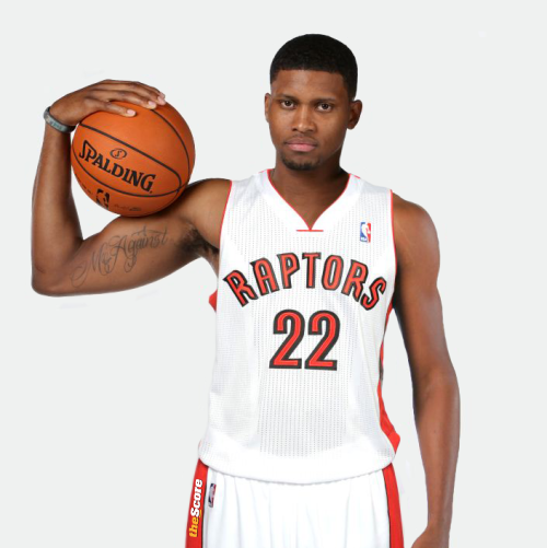 Rudy Gay in his Raptors jersey