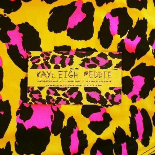 My businesc card print came from this swimwear fabric #swimwear #SS13 #kayleighpeddie