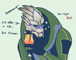 disfiguredstick:  Not sure how I feel about Garrus? I bang him every time.  I never assume everyone loves Garrus, but thank goodness this is real.