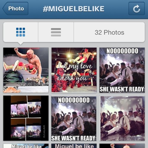 miltonsong:  allyofnyc:  Look at this shit!!! Damn!! #miguelbelike #miguel #bbma  I can't stop laughing.   Lawd.  lol