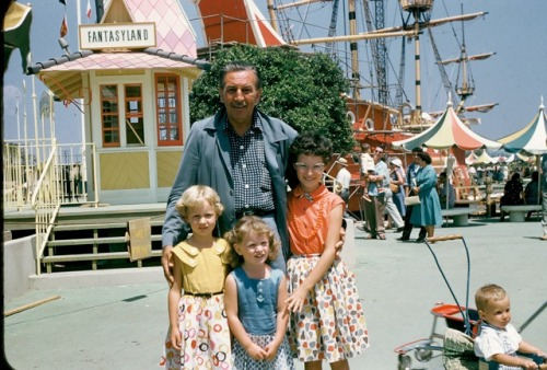 Disneyland, opening week 1955. [via]