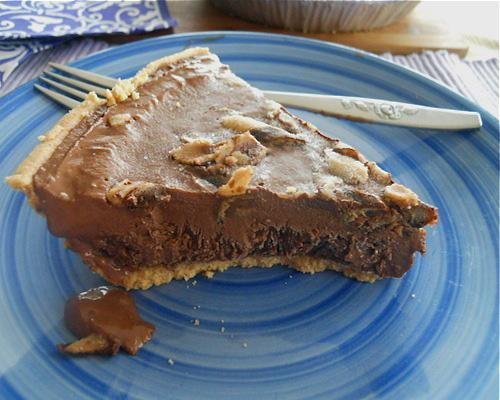 Recipe: Dark Chocolate Tofu PieTofu turns to the dark side in this velvety deeply chocolate dessert.Check out our other yummy tofu dishes for skeptics.