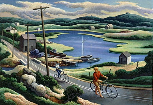 indigodreams:  the bicyclers, thomas hart benton