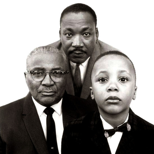 Martin Luther King Jr, with Father and Son Photo by Richard Avedon 1963