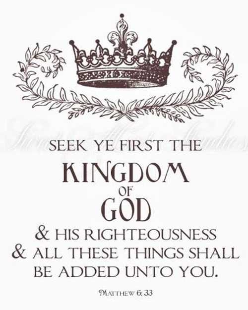 kissmegray:  Matthew 6:33  Let GOD have all authority in your life.