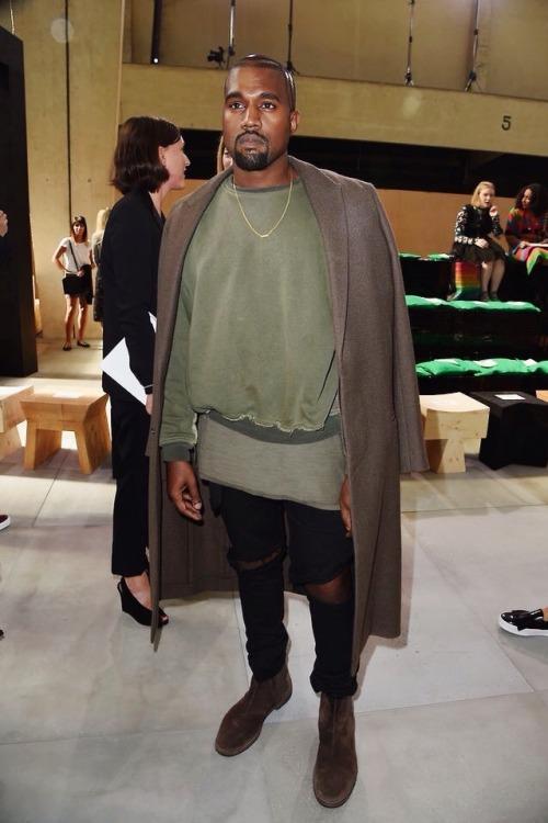 kuwkimye:  Kanye at the Celine S/S 2015 show in Paris - September 28, 2014