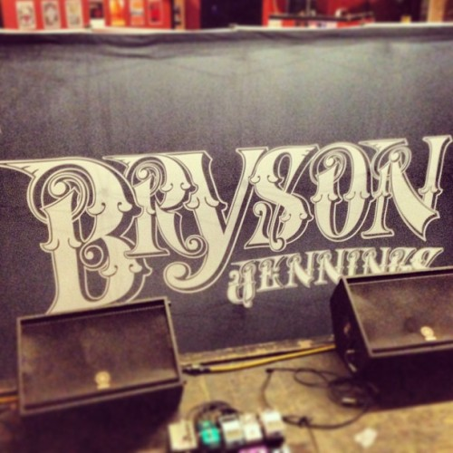 The stage is taking shape! #BrysonJennings #5PointsPub #tonight
