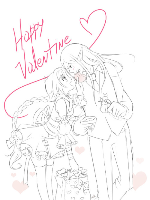 DAT ANATOMY Happy Valentine everyone! ♥ I wish I could draw something better but I have too many things to work on ' u ' Uuu I hope you have a great day! <3