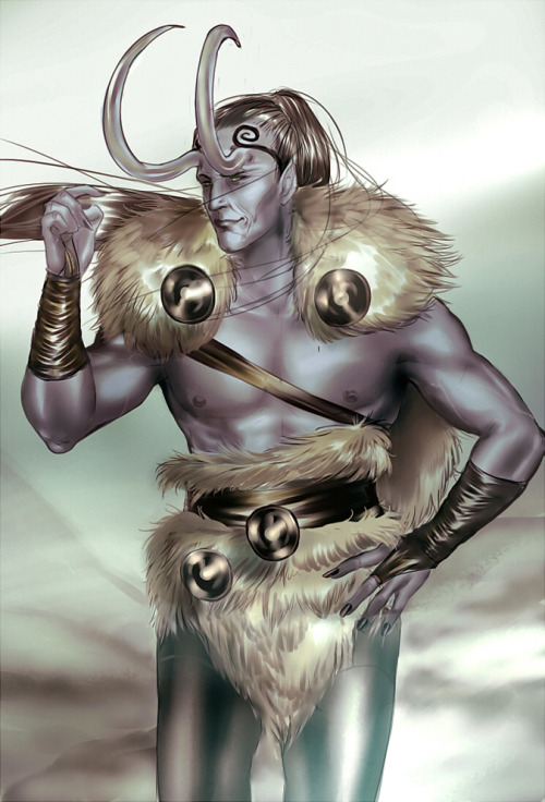 lokisergi:  sexy-salmon-loki:  A Loki in jotun form for satan  Falls over crying~