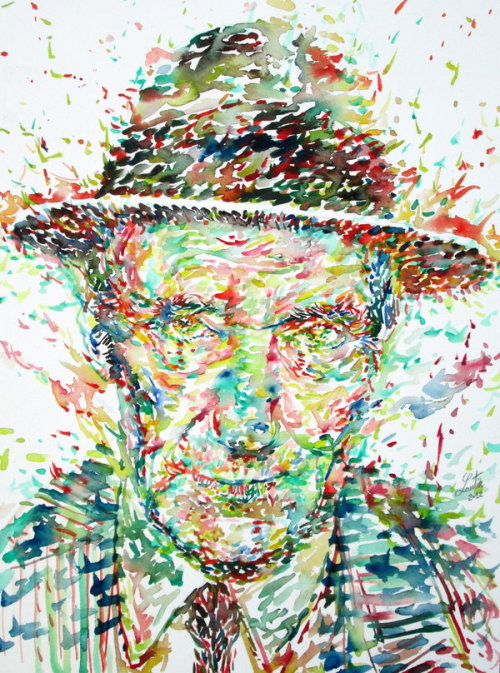 "thelookingglassgallery:  ""William Burroughs Watercolor Portrait.1"" by superlautir"
