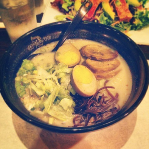 Miso and BBQ Pork Ramen #seared #tuna #food #fish #seafood #dinner #entree #ramen #restaurant #miso