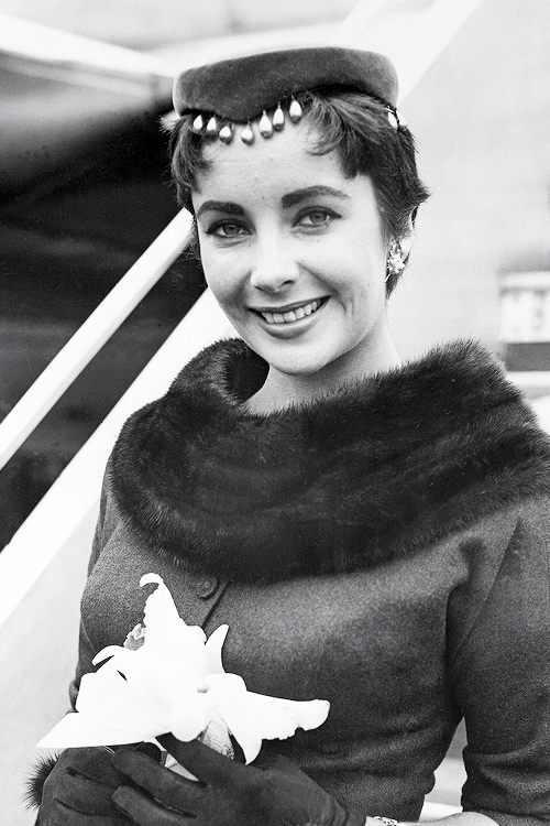 msmildred:  Elizabeth Taylor at the Santa Monica airport, 1954.