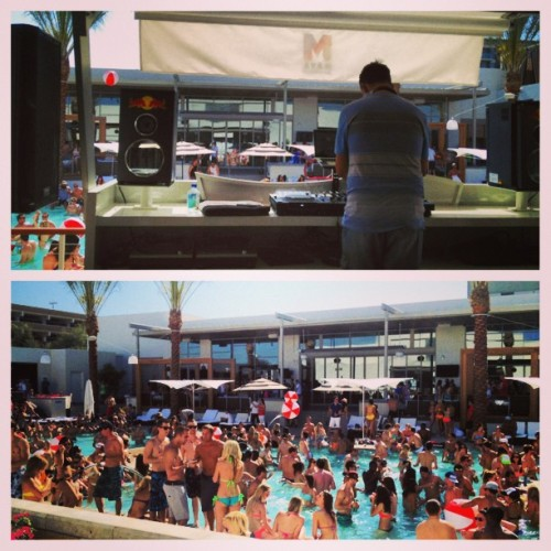 Come hang out at Maya Day Club with @kissfmphoenix very own @djaarontaylor…come on!! It's Saturday! #picstitch