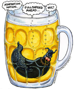 Steve Bell on the budget … Hic!