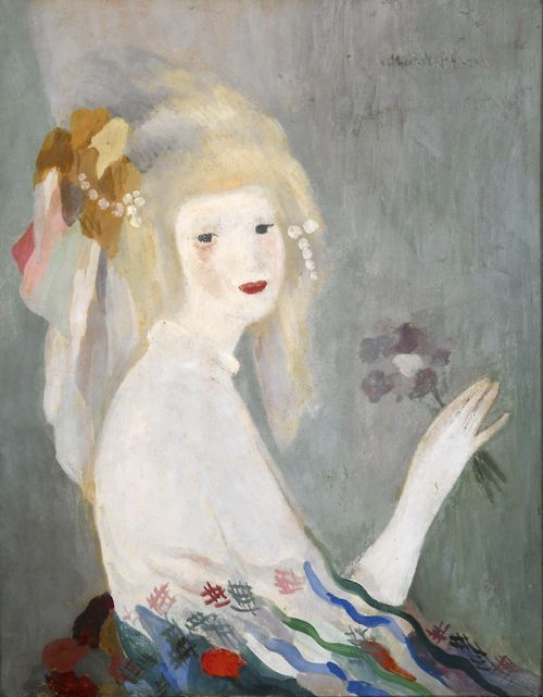 cavetocanvas:  Marie Laurencin, Head of a Woman, n.d.