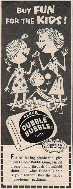 Buy FUN for the KIDS! on Flickr.Dubble Bubble ad in Family Circle magazine, 1953.