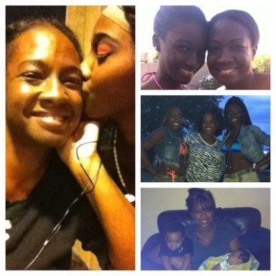 "These three women right here have my heart❤, my soul, and my back where I would be without them I have no idea ""Ain't a woman alive that can take my mama place"" if I lost ANY of them I would die these women are my EVERYTHING! Happy Mothers Day💋"
