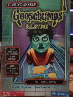 gordon-the-hat:  To pass some time I'll read a Goosebumps book. I've found a whole stack of these and with them a whole flood of memories of buying them from a market behind Harvey Norman when I was just a wee lad.