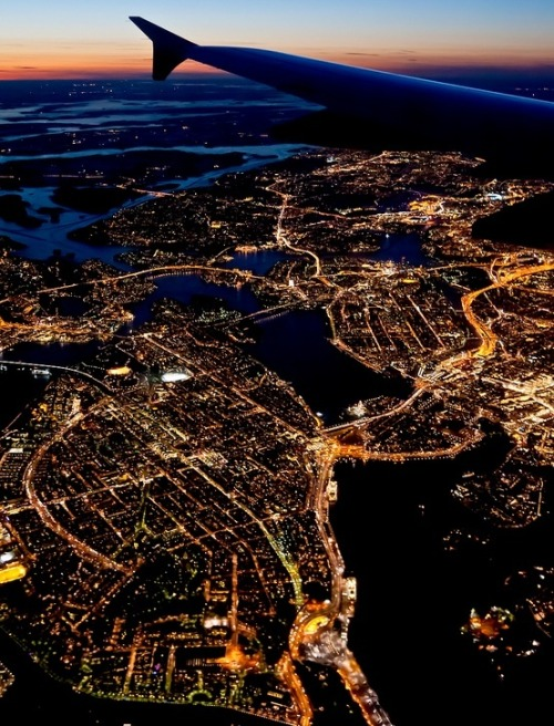 loveesweden:  Stockholm from the sky