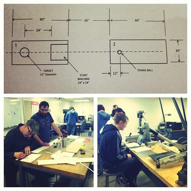 #wustlengineers at work in an Introduction to Mechanical Design course.