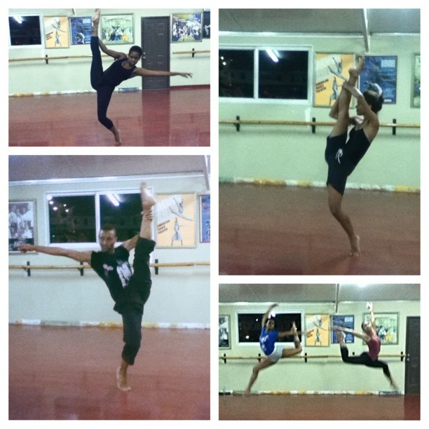 CDT impromptu photo shoot #dance #legs #jumps #CDT @renimani @dancerholic1 @kix876 CDT Gala: June 8, 2013 #picstitch