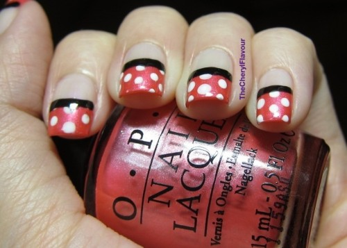 Minnie Polka Dots See full post here! Polishes Used: OPI Come To Poppy OPI Otherwise Engaged OPI Black Onyx