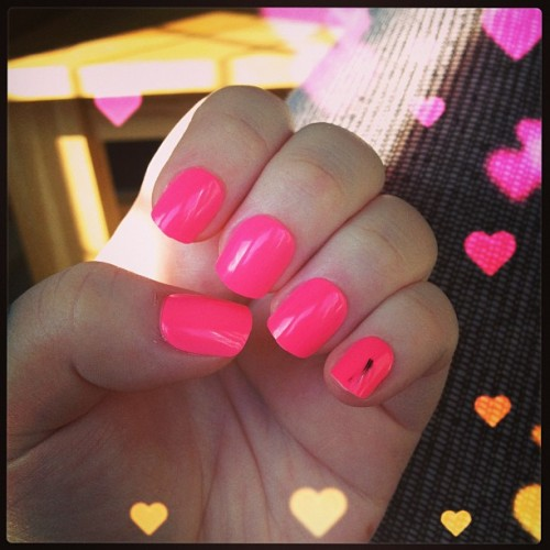 New claws #nails #pink #neon