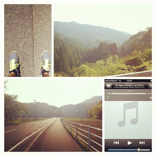 Best way to cure a hangover? 10k run in the Japanese countryside #me #myself and #iPhone  (at Star Base Miyazaki Camp)