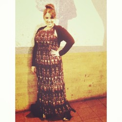 My birthday outfit! #messyBun #PrintDress #JeffreyCampbell #Litas #me #vain