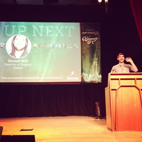 @darnellsw killing it at #userconf #vimeo