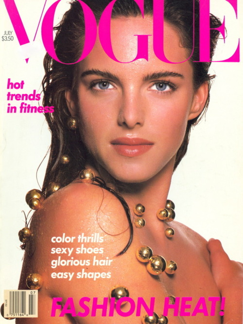 Vogue US, July 1988Photographer : Steven MeiselModel : Susan Miner