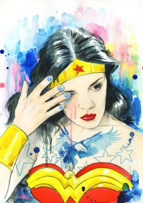 lulubonanza:  WONDER WOMAN by *lora-zombie