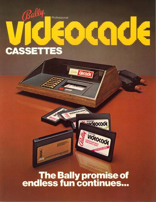 Bally Professional Videocade Cassette Bally Alley