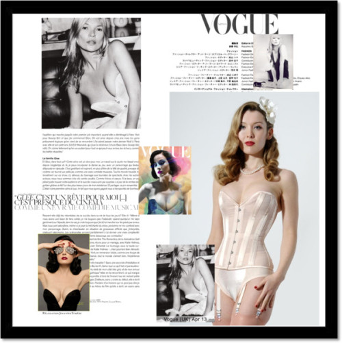 What Katie Did in Vogue by whatkatiedidlingerie featuring cabaretCABARET  / Sheer bridal corset. Vintage bridal corset for an hourglass shape, $250