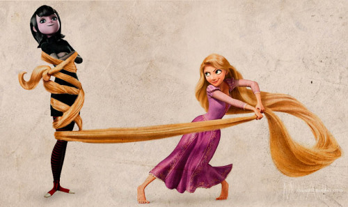 Inspired by this video by Bleedgirl87  { Mavis x Rapunzel }
