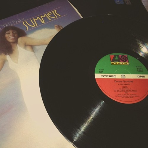 mahdimachfar:  a love trilogy #donnasummer  How is this on Atlantic Records?  The one I have is Casablanca