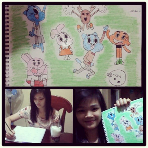 The Amazing World of Gumball! <3 #art #drawing #myself #gumball #asian #instacollage #instagram