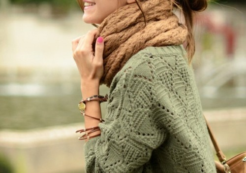 inside—jokes:  .. *Fashion Inspired* .. / Chunky Knits Fall Trend on We Heart It - http://weheartit.com/entry/40800101/via/username_101   Hearted from: http://pinterest.com/pin/415316396856170995/