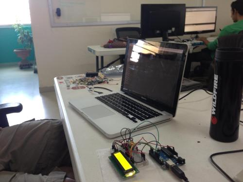 Herman (@superheman) building a deployment box using an Arduino & Dino (https://github.com/austinbv/dino)!We love to do crazy stuff with Ruby!