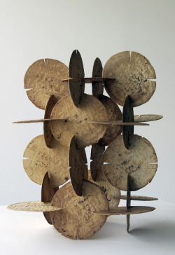 museumuesum:  Damian Ortega Modulo de construccion de tortillas, 1998 corn tortillas, 6 x 14.2 x 14.5 in inches