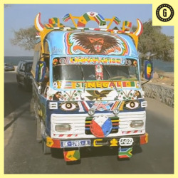 Senegalese Buses are Awesome: Check Out This Pimped Out 'Car Rapide'- Mary Slosson wrote in Global Citizenship and Transportation  They're ubiquitous in Dakar: the bright blue and yellow car rapide buses that criss-cross Senegal's capital city.  For the uninitiated, Senegal's most popular form of public transportation can be chaotic and overwhelming. The buses, custom made from discarded vehicles by the city's brilliantly inventive mechanics, chug along the streets with the back door open and the driver's assistant shouting out the route. Continue reading on good.is