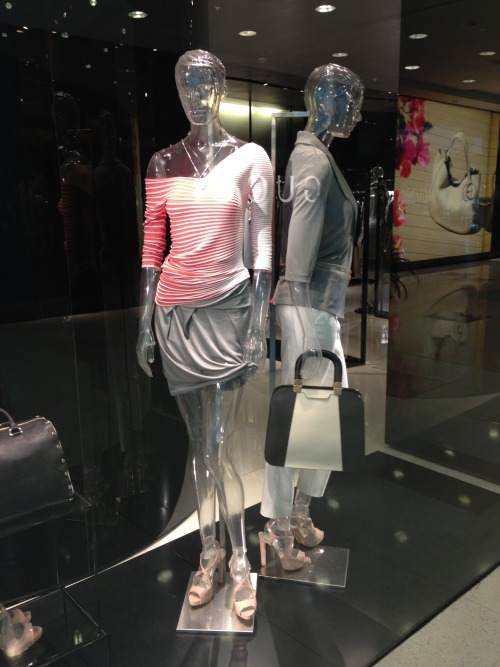 An interesting spring mannequin update spotted at Emporio Armani  WGSN shot, Shanghai