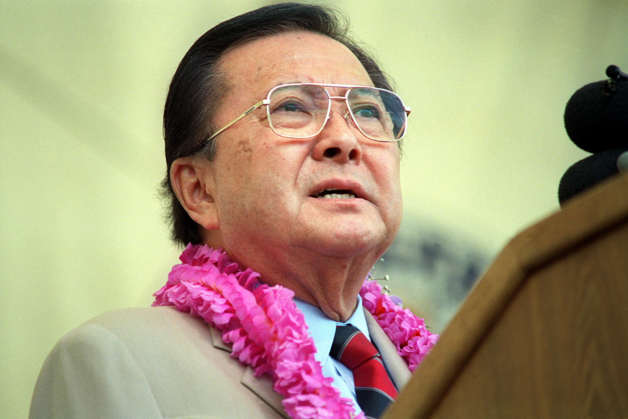 Daniel K. Inouye, Senator and Medal of Honor Recipient, 9/07/1924 – 12/17/2012  Sen. Daniel K. Inouye of Hawaii speaks to the Remembrance Day audience at the USS ARIZONA Memorial Visitors Center. USS ARIZONA survivors are honored during the commemoration of the 50th anniversary of the Dec. 7, 1941, attack on Pearl Harbor, 12/04/1991