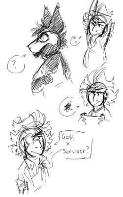 wilsons + a new (mew!) sona. #dont starve#dont starve#ds wilson #wilson p higgsbury  #do not starve #[MY ART]