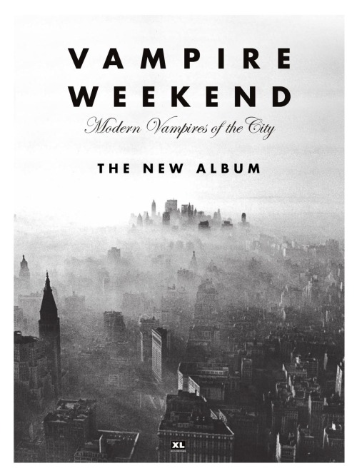 teamvampireweekend:   Three years. We have waited three long years and finally, Modern Vampires of the City is available everywhere. It's a great album and the guys worked so hard for it so I hope you enjoy it as much as I did. Happy MVOTC release day, ppl!