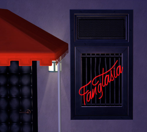 "Faux Neon ""Fangtasia"" Sign + Companion Window/Door Recolours now available at leefish.nl."