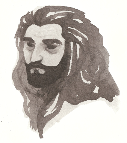 I doodled Thorin when I was in life drawing class and my friend thought it was Jesus.  wat   Have you accepted Thorin Oakenshield as your lord and savior ?
