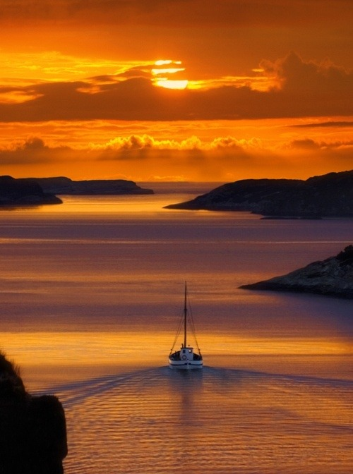 sweetlysurreal:  Norwegian sunset by Tord Andre Oen